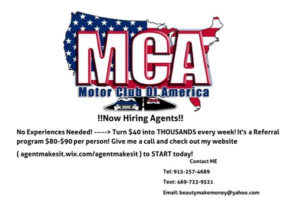 Now hiring MCA agents