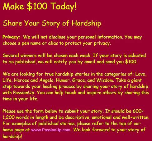 Make  100 for Your True Story Today   Austin Area