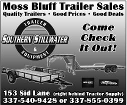 MOSS BLUFF TRAILERS  Behind Tractor  Supply Moss Bluff
