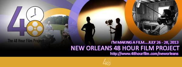 Cinematographer with equipment needed for 48HR FILM PROJECT  New Orleans area