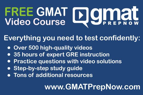 Save your money Our free GMAT video course covers everything the GMAT tests