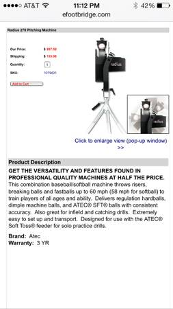 Pitching machine  -   x0024 1  Youngsville