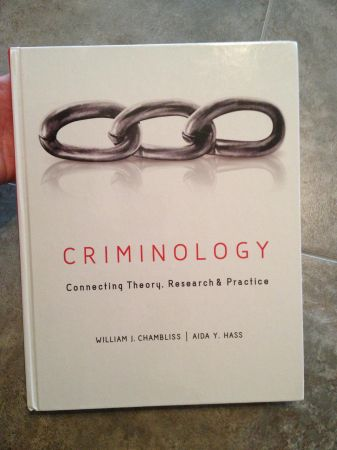 Criminology Connecting Theory Text Book - $85 (New IberiaLafayette)