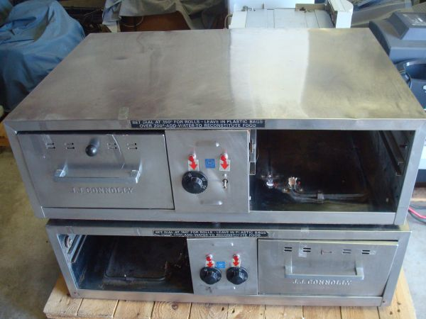 (2) J.J. CONNOLLY Roll-A-Grill BW-2A COMMERCIAL 2-DRAWER BUN WARMER - $140 (New Iberia, Louisiana)