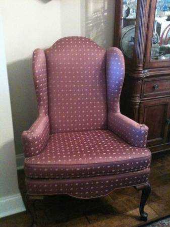Ethan Allen Queen Anne Wing Back Chair - $50 (Youngsville, LA)