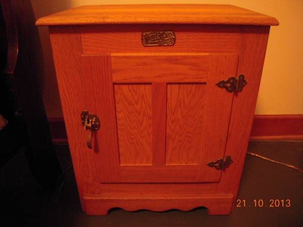 White-Clad Lt Oak Antique reproduction ice-box night stand - $100 (Lafayette, LA)