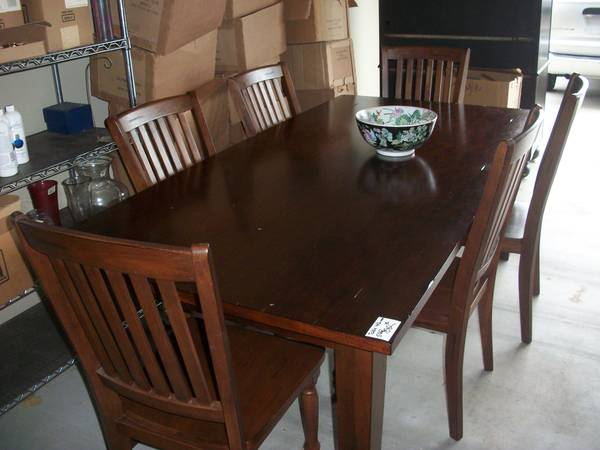 Brand New 7ft Dining Table and 6 Chairs from World Market - $475 (Lafayette Estate)