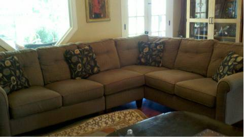 Coffee colored Lazy Boy sectional - $750 (Lafayette)