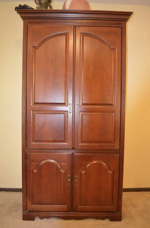 Real Wood TV Armoire- Cherry - $500 (Lafayette, LA)