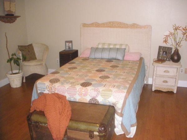 Pier 1 Wicker Bedroom Set - $400 (Lafayette)