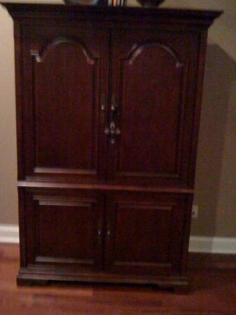 Solid Cherry Wood TV Armoire - $350 (Maurice, LA)