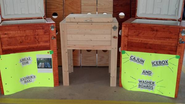 Cajun Iceboxes and washer board games - $180 (Lafayette )