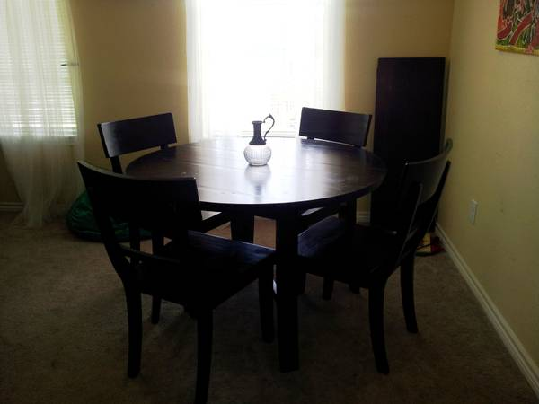World Market Extension Table and 4 Chairs - $300 (Lafayette)