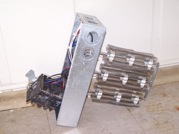 Heating coils with breakers from a 3.5 ton Trane unit - $50 (Broussard)