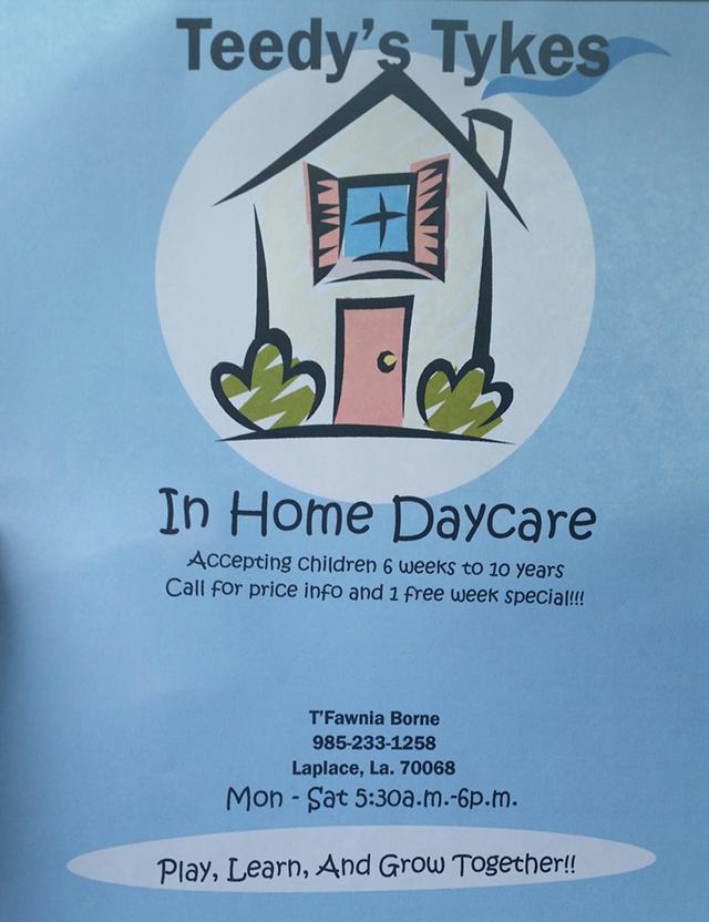 Teedys Tykes In Home Childcare