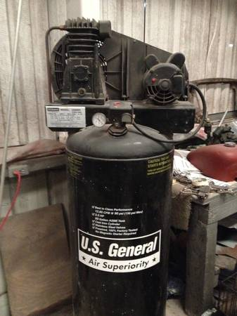 Air Compressor 3.5 HP 60 gal tank - x0024375 (Broussard)