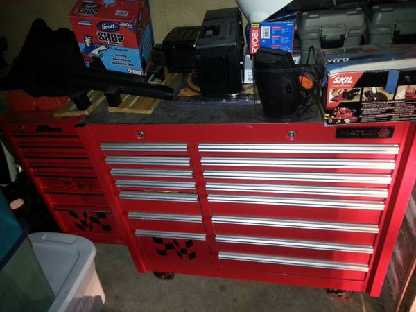 matco roller box with mac side cabinet - $1200 (lafayette)