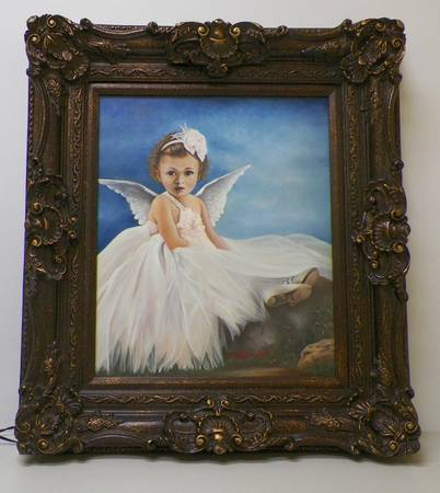 Mommys Angel Oil Painting by Hafis DwiP -   x0024 125  youngsville