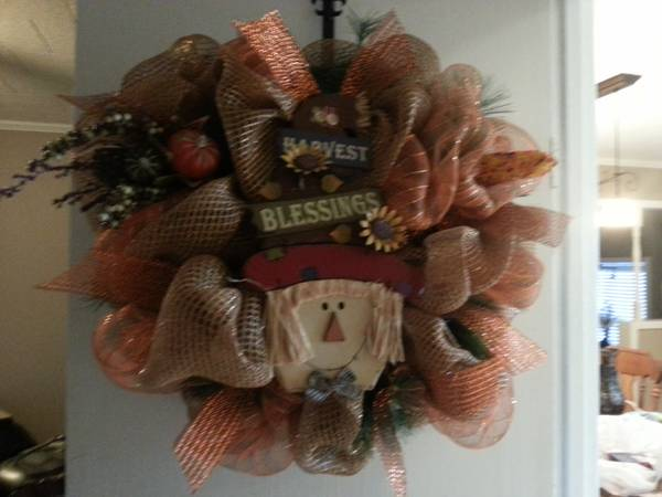 Fall Door Deco Mesh wreath - $48 (Jockey Lot Booth 160)