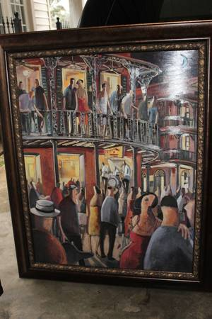Large Framed New Orleans   Jazz Wall Print -   x0024 65  Lafayette