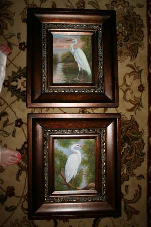 Egret Oil Painting Set -   x0024 120  youngsville