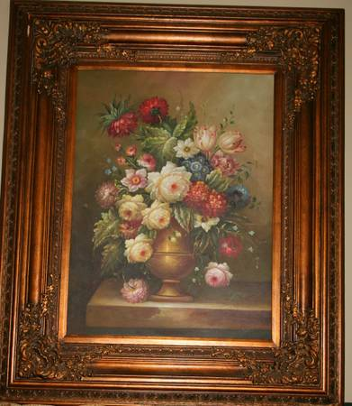 Original Floral Oil Painting by Deluca -   x0024 375  Youngsville  La
