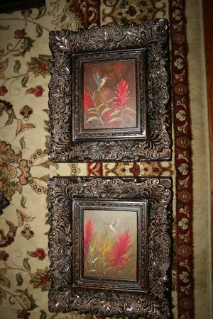 Humming Birds Oil Paintings - Set of 2 -   x0024 120  youngsville