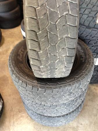LT27565R18 MASTERCRAFT ALL TERRAIN TIRES LIKE NEW CONDITION - $250
