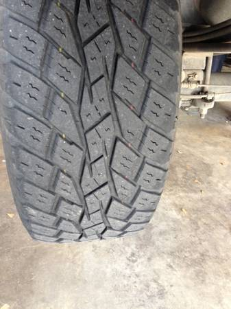 20 INCH TOYO OPEN COUNTRY AT TIRES. TREAD LIKE NEW P27555R20 - $300