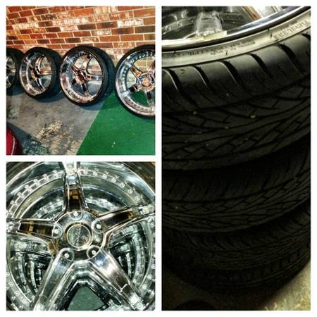 22 inch 5 lug universal rims all tires brand new - $700 (Lafayette)