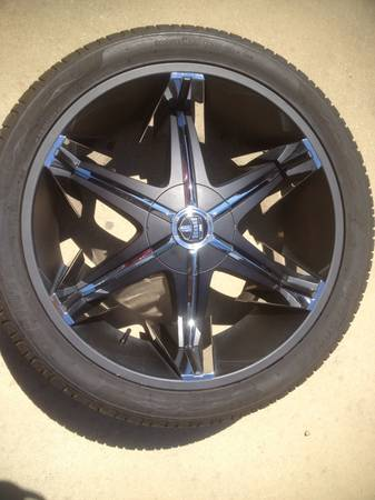 24 inch dub rims and tires - $2000 (carencro)
