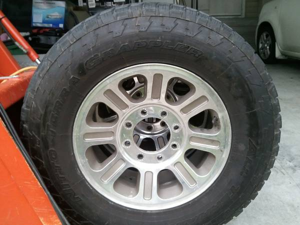 Nitto Terra Grappler 33 Tires and 18 Rims - $925 (New Iberia)