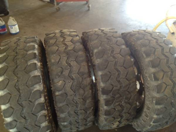 (4)37X12.50R20 SUPER SWAMPER TIRES  - $300