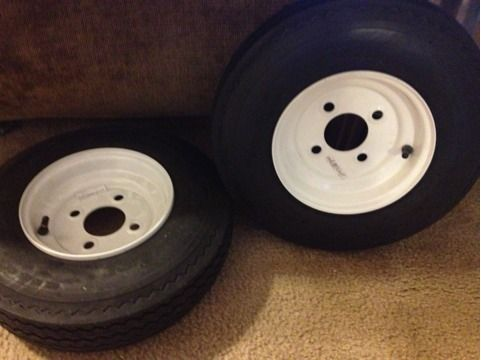 Harbor Freight Trailer Wheels - $40 (Arnaudville)
