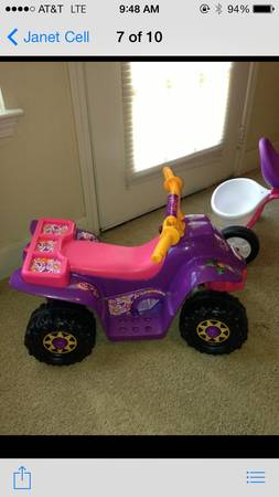 Fisher Price Power Wheels Dora Lil Quad 6 Powered 4-wheeler - $50 (Lafayette, LA )