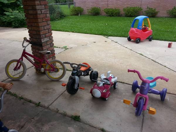kids and toddler bikes, ride ons