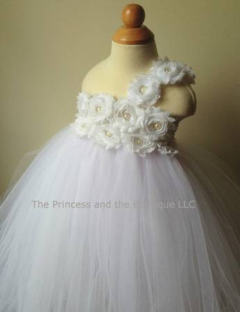3T White Tull Flower Girl Dress -   x0024 95  Kaplan