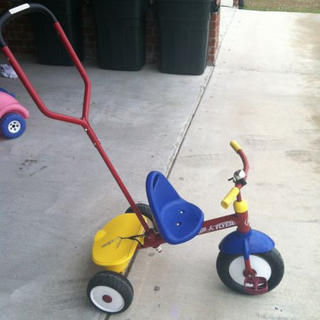 Radio Flyer Tricycle with handle - $40 (Lafayette)