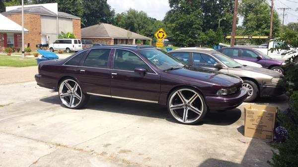 94 caprice. candy paint. sunroof. 26s. sell or trade. - $7000 (Lafayette)