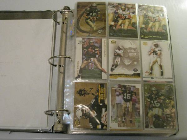 DREW BREES COLLECTOR CARD ALBUM - 330 CARDS - x0024600 (Houston, TX)