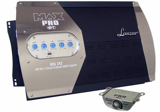 lanzar Max Pro 1600 Watt 2 Channel High Power Mosfet Amplifier (new iberia)
