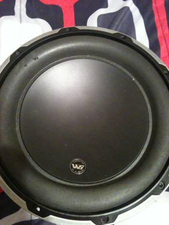 jl audio w6 10inch sub cheap cheap - $75 (rayne)