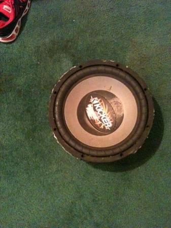 trade kicker cvr 12 inch sub for - $1 (rayne)