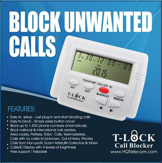 38  Stop Annoying Calls  Robocalls On Your House Phone Line with the T-Lock Call Blocker