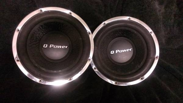 two q power 10 subs - $100 (Breaux Bridge to Lafayette )