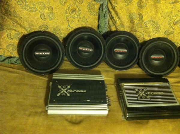 Car audio subs and  - $500