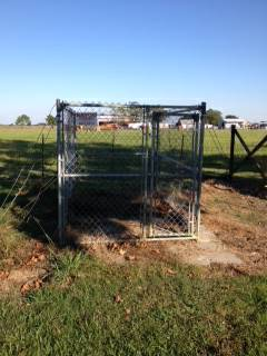Chain link dog kennel - $350 (Abbeville)