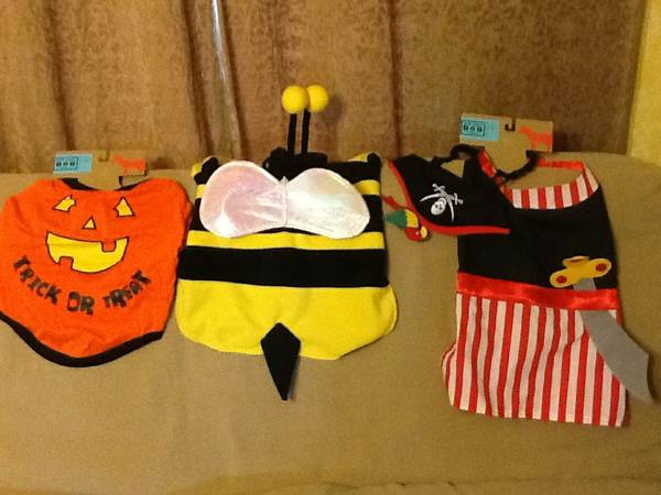 Dog Halloween costumes pumpkin bee pirate - $10 (St.martinville)