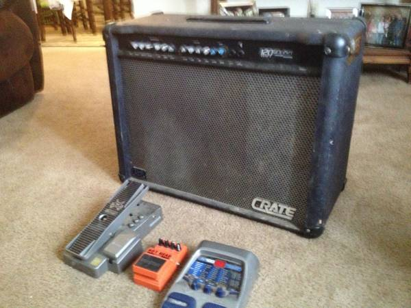 Crate GFX-212T 120 Watt and pedal package - $300 (Lafayette )