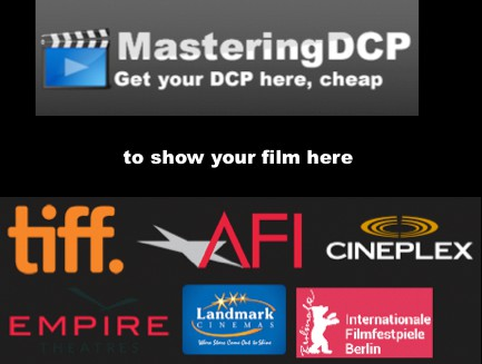 Cheap DCP Digital Cinema Package and Bluray mastering